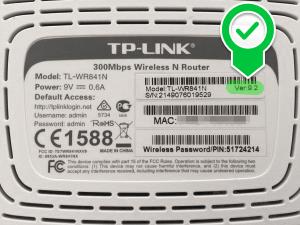 TP-WDR841N-Typenschild