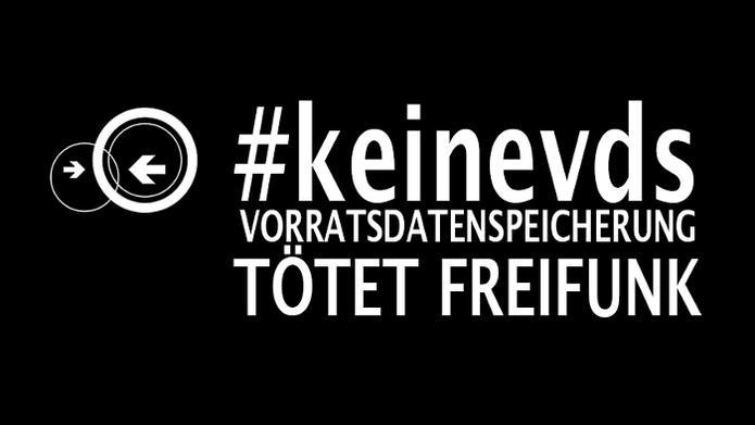 #keinvds Vorradsdatenspeicherung tötet Freifunk