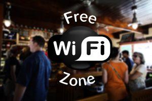 free WiFi ZOne in der Stadt